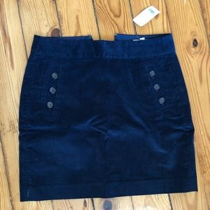Banana Republic navy mini skirt.
